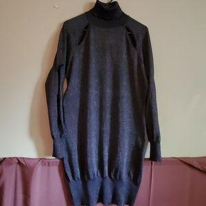 Retro black with specks of silver sweater dress!